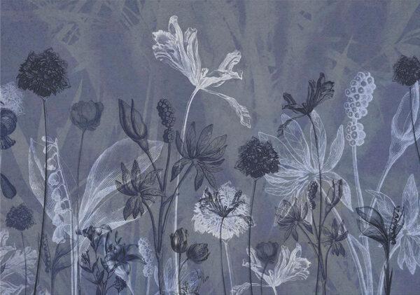 Fototapeten Secret Garden Beispiel Blautönung | 3d tapeten schlafzimmer