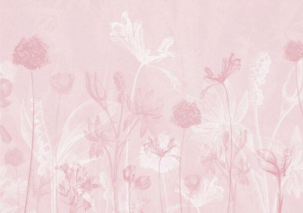 Designer Fototapeten Secret Garden Beispiel rosa Tönung | 3d tapeten schlafzimmer