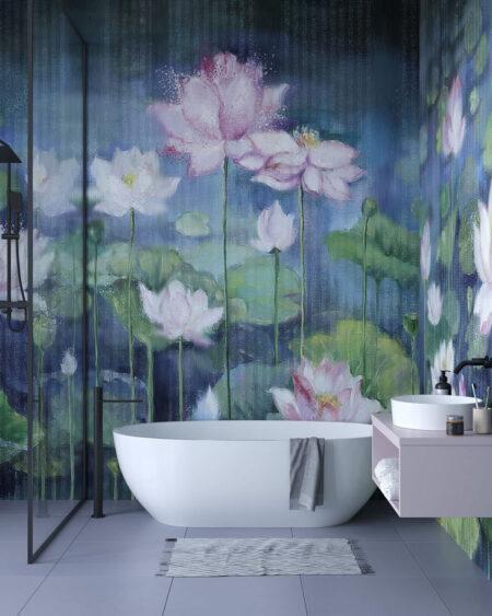 Kaufen Designer Fototapeten Mirror Nuphar | 3d tapete badezimmer