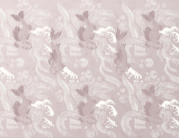 Fototapeten Koi Beispiel pinke Farbe | 3d tapete
