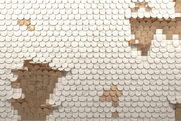 Kaufen Designer Fototapeten Sequin Beispiel holziges Weißgold | 3d tapeten