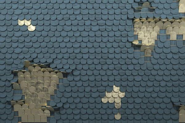 Kaufen Designer Fototapeten Sequin Beispiel holziger blauer Sumpf | 3d tapeten