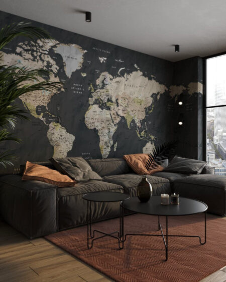Weltkarte Fototapeten Wayfinder   3d tapete