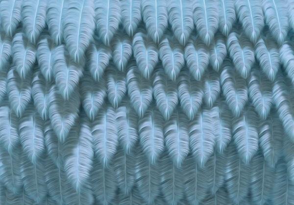 Designer Fototapeten Piuma Beispiel Blau | 3d tapeten