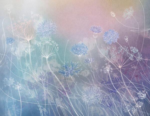 Design Fototapeten Vento Beispiel blauer Farbverlauf | fototapete natur