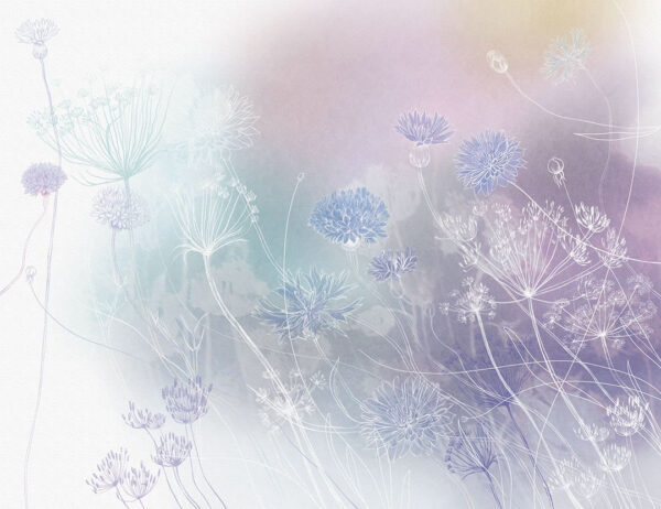 Design Fototapeten Vento Beispiel lila Farbverlauf | fototapete natur