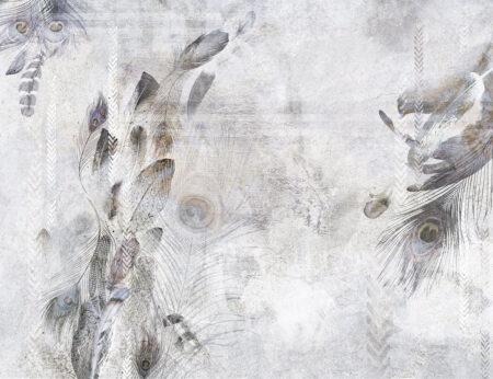 Kaufen Designer Fototapeten Pavone Beispiel hell grau   3d tapete