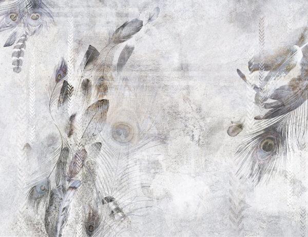 Kaufen Designer Fototapeten Pavone Beispiel hell grau | 3d tapete