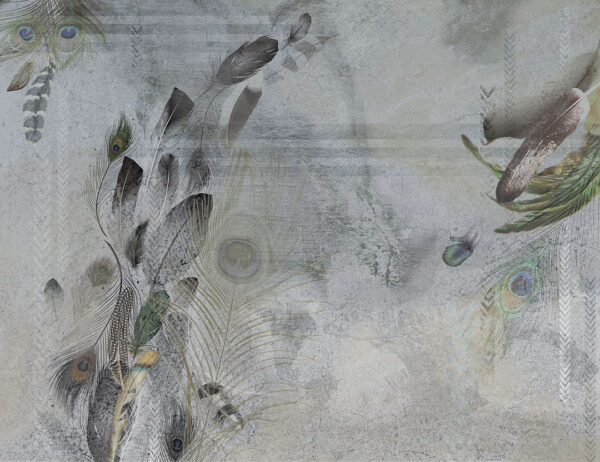 Kaufen Designer Fototapeten Pavone Beispiel grau| 3d tapete