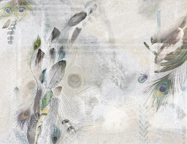 Kaufen Designer Fototapeten Pavone Beispiel Weiß | 3d tapete