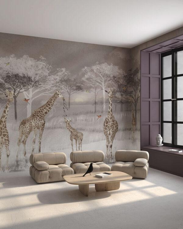 Design Fototapeten Fototapeten Giraffen | fototapete natur