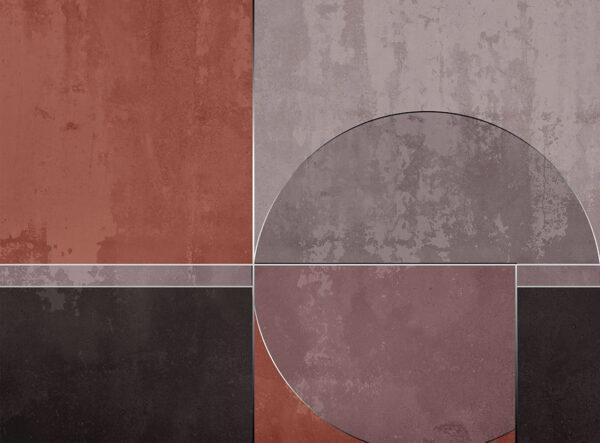 Kaufen Fototapeten Geometrie Beispiel brauner und grauer Farbton | 3d wandtapete