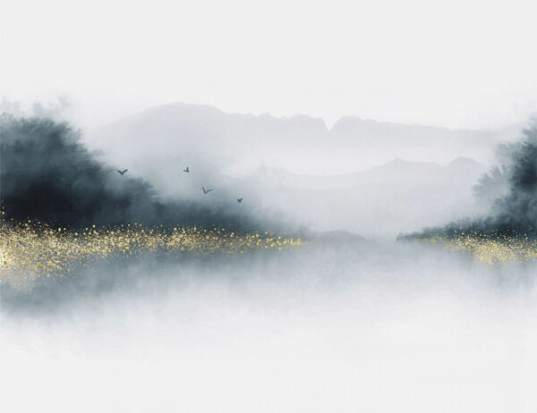 Design Fototapeten Nebbia Beispiel grau | fototapete natur