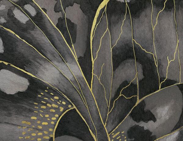 Kaufen Fototapeten Farfalla Beispiel Grautöne mit gelben Linien   3d tapete