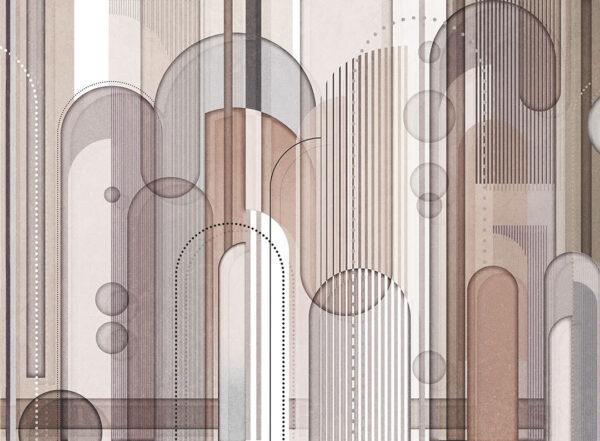 Designer Fototapeten Insolitamente Beispiel hell grau| 3d tapete