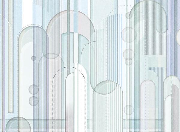 Designer Fototapeten Insolitamente Beispiel hellblau | 3d tapete