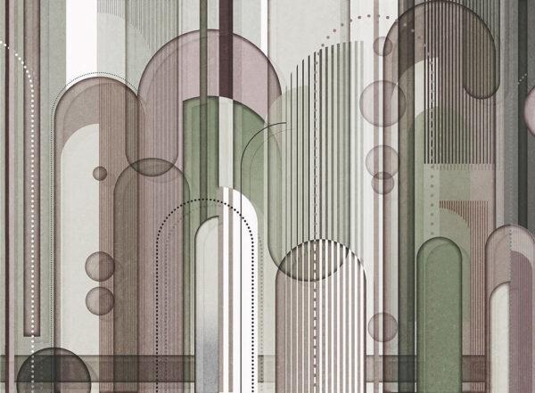 Designer Fototapeten Insolitamente Beispiel Grüntöne | 3d tapete