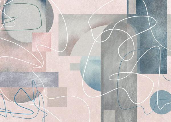 fototapete schlafzimmer Fototapeten Kritzeln Beispiel rosa Tönung | 3d tapete