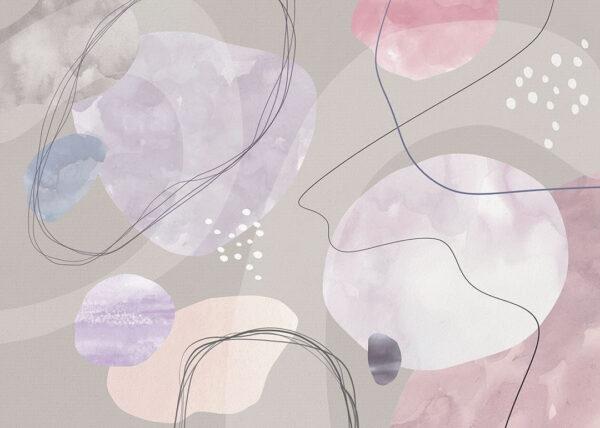 Kaufen Designer Fototapeten Kringel grau mit anderen Farben | 3d tapete