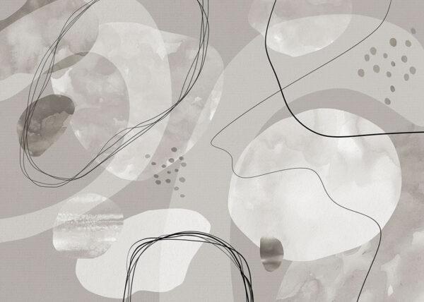 Kaufen Designer Fototapeten Kringel Beispiel grau | 3d tapete