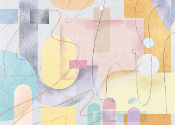 Kaufen Designer Fototapeten Riccioli Beispiel hell gefärbt | 3d tapete