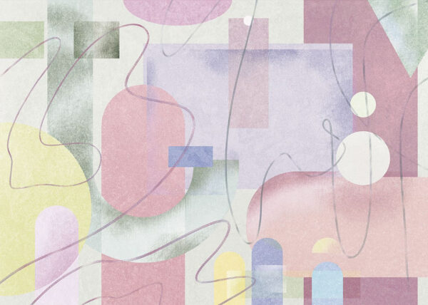 Kaufen Designer Fototapeten Riccioli Beispiel hellgrüne Tönung | 3d tapete
