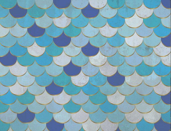 Kaufen Fototapeten Turquoise scales Beispiel Schattierungen von Blau und Lila   3d wandtapete