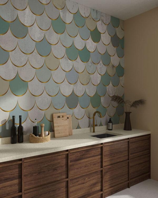 Designer Fototapeten Pastel Scales   3d tapete küche