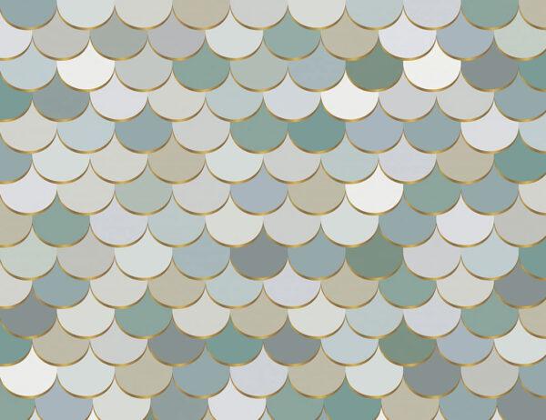 Designer Fototapeten Pastel Scales Beispiel   3d tapete küche