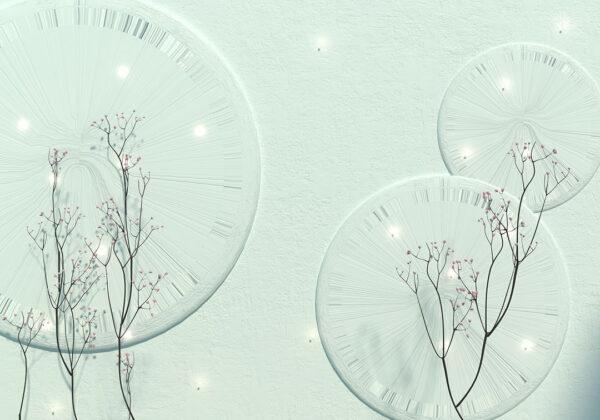 Designer Fototapeten Charme Beispiel Aquamarin | 3d tapeten