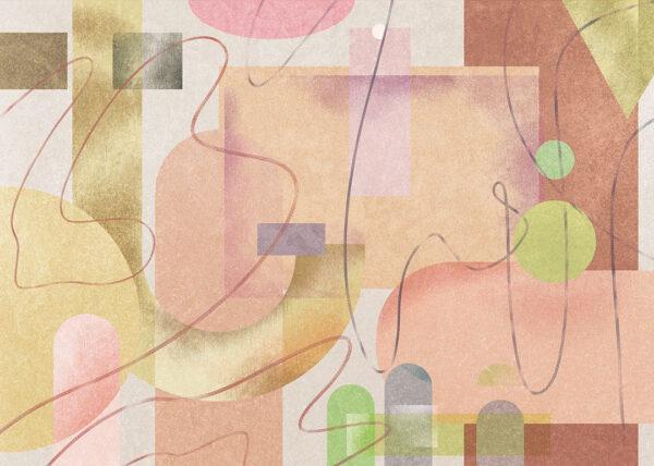 Kaufen Designer Fototapeten Riccioli Beispiel Brauntöne | 3d tapete