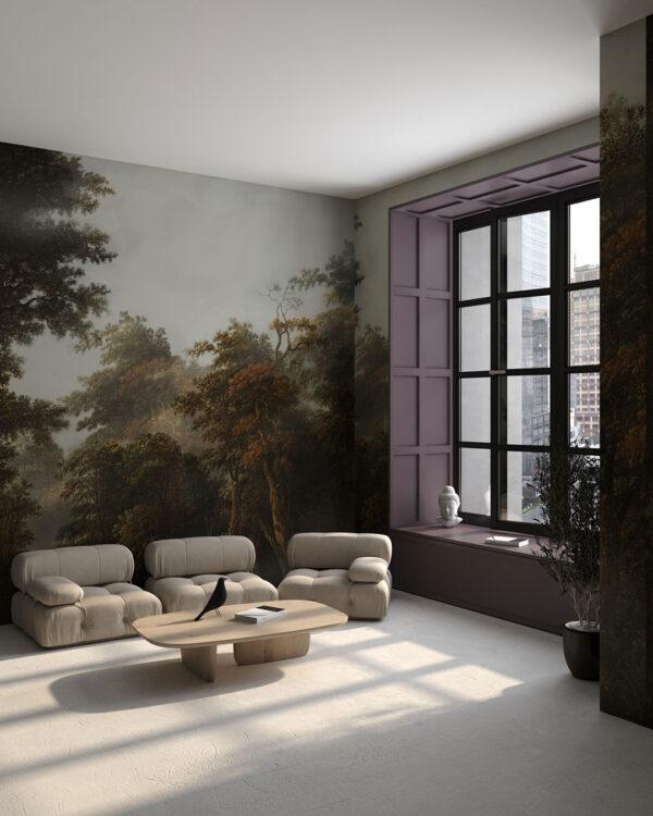 Design Fototapeten Bosco autunnale | fototapete natur