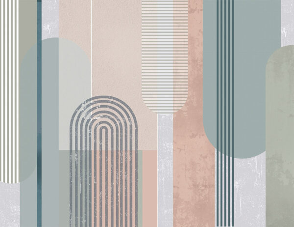 Kaufen Designer Fototapeten Geometria Beispiel Türkisblau | 3d tapete