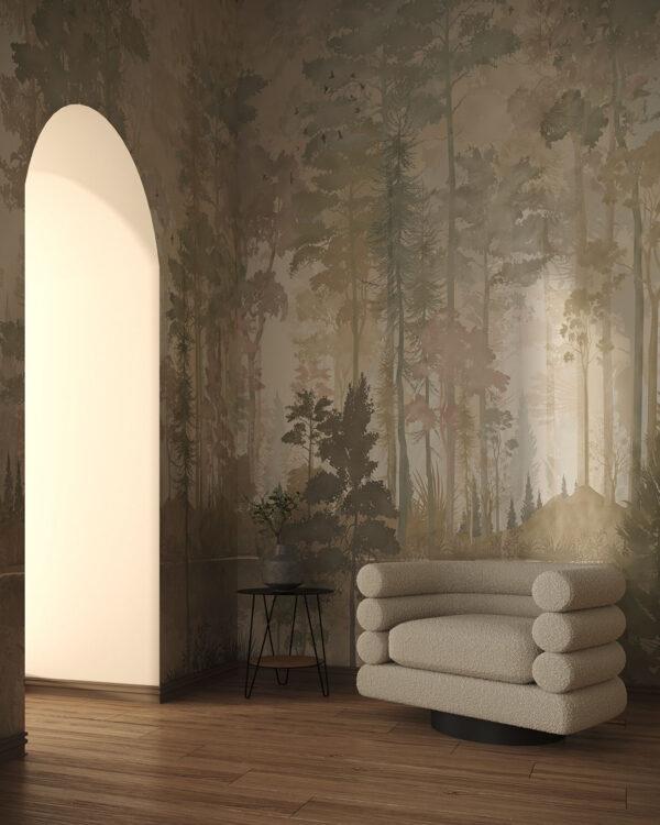 Design Fototapeten Disegno Foresta | fototapete natur