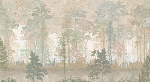 Design Fototapeten Disegno Foresta Beispiel Grüntöne | fototapete natur