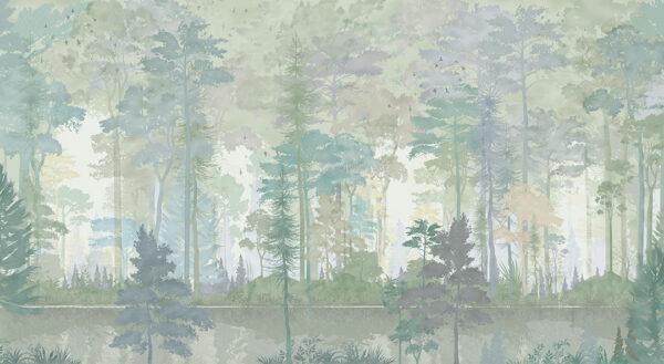 Design Fototapeten Disegno Foresta Beispiel Grün | fototapete natur