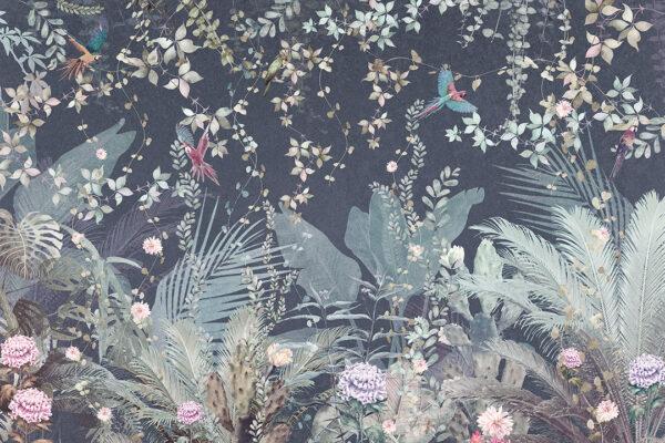 Fototapeten Tropische Papageien Beispiel blau   fototapete natur
