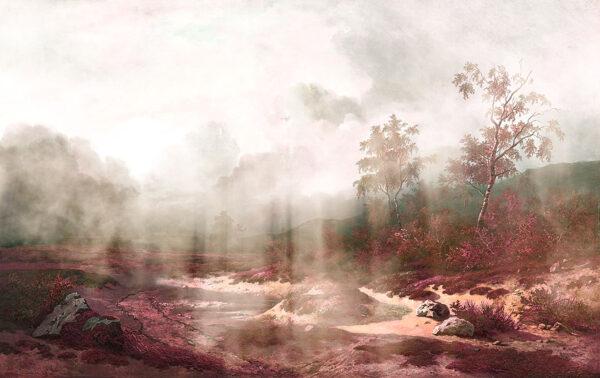 Design Fototapeten Vigas Beispiel rosa   fototapete natur