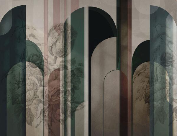 Designer Fototapeten Silkeborg Beispiel Grüntöne| 3d tapete