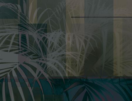Design Fototapeten Slagelse Beispiel dunkelgrün   fototapete natur