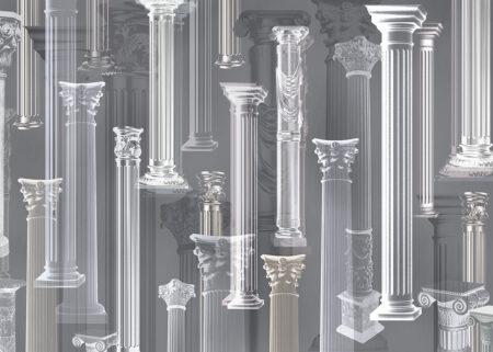 Fototapeten Vágur Beispiel graue Säulen | fototapeten 3d