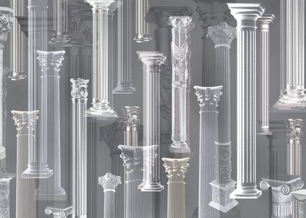 Fototapeten Vágur Beispiel graue Säulen   fototapeten 3d